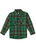 Flannel Button-Up Shirt, Little Boys
