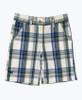 Blue & Green Plaid Shorts, Little Boys