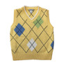 Pastel Yellow Argyle Sweater Vest, Little Boys