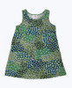 Green & Teal Sleeveless Dress, Toddler Girls