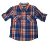 Victoria Blue Button Up Shirt, Toddler Boys