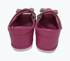 Fuchsia Leather Bow Sandals