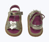 SOLD - Gold Flower Trio Sandals