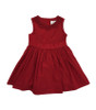 Red Lace Trim Holiday Dress, Toddler Girls