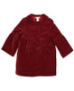 Red Velour Rosette  Coat, Toddler Girls