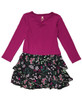 Fuchsia Black Ruffle Dress, Toddler Girls