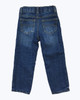 Fleece-Lined Dark Denim Jeans, Toddler Boys