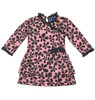Brown & Pink Layered Ruffle Dress, Baby Girls