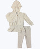 Cream Velour Tracksuit, Baby Girls