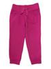 Fuchsia Ribbed Waist Jogger Pants, Toddler Girls