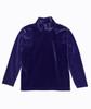 Purple Velour Mockneck Shirt, Little Girls