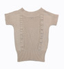 Oatmeal Short Sleeve Sweater