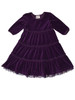 Purple Velour Tiered Twirl Dress, Toddler Girls