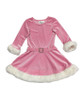Sparkly Pink Santa Dress, Toddler/Little Girls