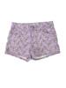 Lilac Floral Denim Shorts, Big Girl