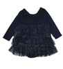 Navy Sparkle Tiered-Ruffle Dress, Baby Girls