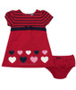 Two-Piece Heart Ponte Dress & Bloomers Set