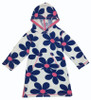 Hooded Flower Towelling Swimsuit Coverup, Toddler Girls