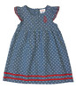 Chambray Polka Dot Dress, Toddler Girl