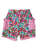 Floral Gingham Ruffled Shorts, Baby Girls