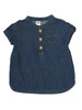 Chambray Rolled Sleeves Top, Baby Girls