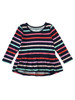 Multi-Color Stripes Peplum Top, Toddler Girls