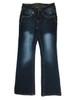 Dark Blue Low Faded Jeans, Little Girls