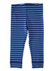 Blue Stripe Cropped Leggings, Little Girls