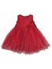 Red Glitter Tulle Holiday Dress, Toddler Girls