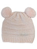 Metallic Pink Pom-Pom Knit Hat, Baby Girls