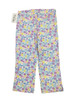 Butterfly Floral Print Pants, Little Girls
