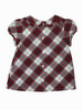 Holiday Red Plaid Blouse, Toddler Girls