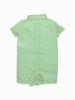 Green Striped Linen Romper/Shorttall, Baby Boys