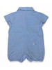 Sky Blue Puppy Shortall Romper, Baby Boys