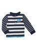 Navy Striped Long Sleeves Shirt, Baby Boys