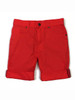 Red Roll-Up Bermuda Shorts, Little Girls