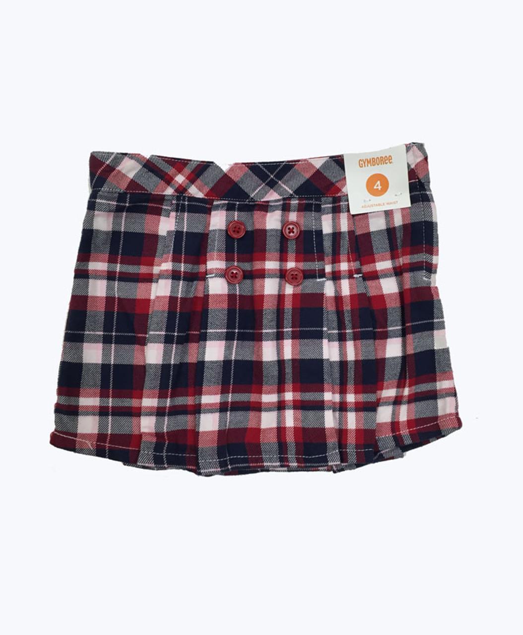 Baby Gap Toddler Girl 4 Red Pink Plaid Skirt