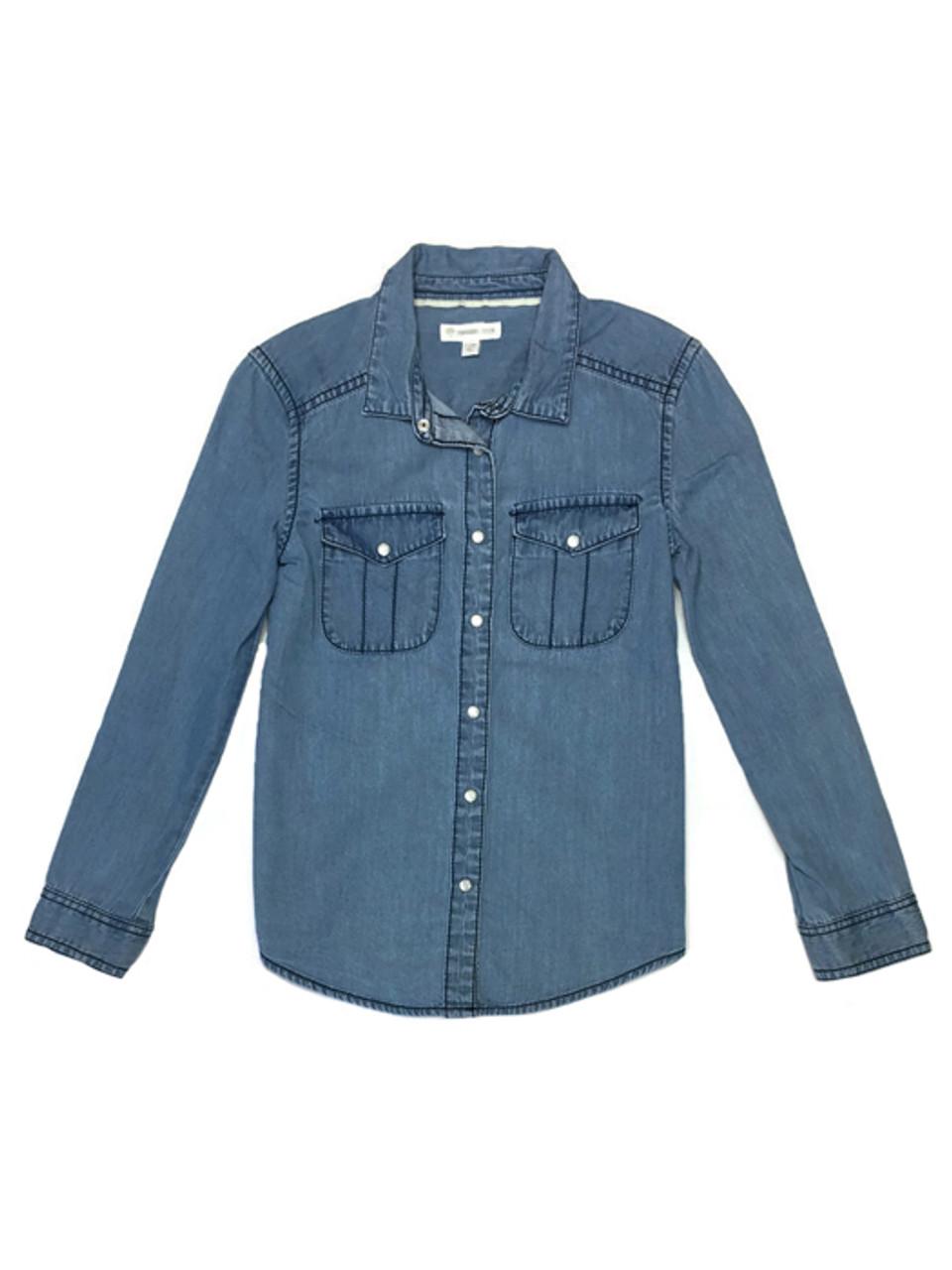 06cb3faae Tucker+Tate Girls Chambray Shirt | Berri Kids Resale Boutique