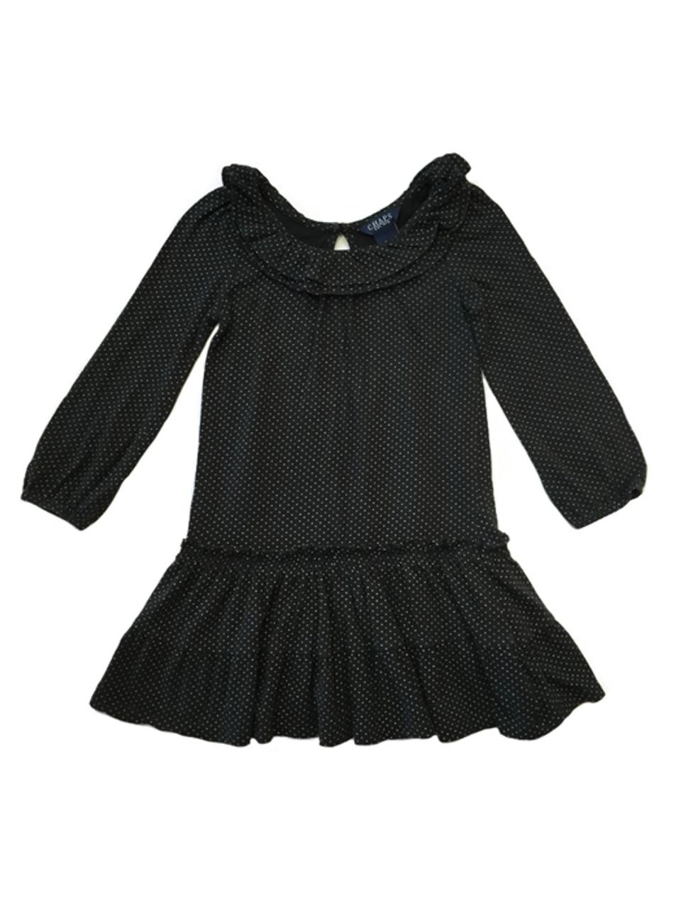 Chaps Toddler Girls Black Ruffle Dress Berri Kids Resale Boutique