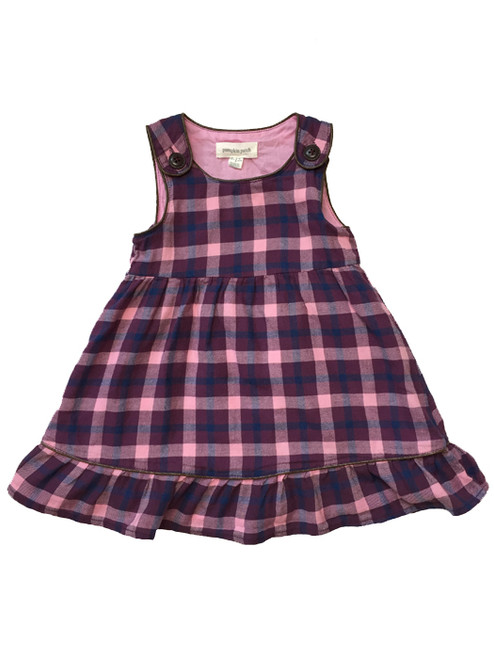 Purple and Pink Plaid Jumper Dress,  Baby Girls