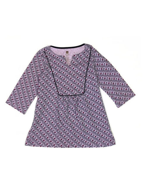 Purple Floral-Print Tunic, Little Girls