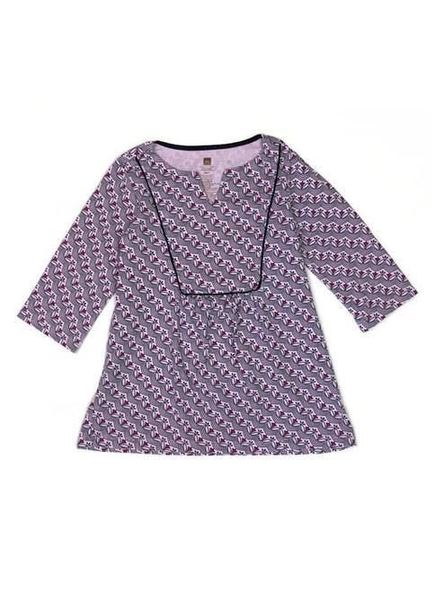 Purple Floral-Print Tunic, Little Girls