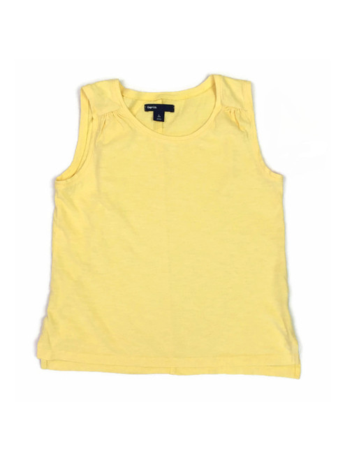 Pastel Yellow Tank Top, Big Girls
