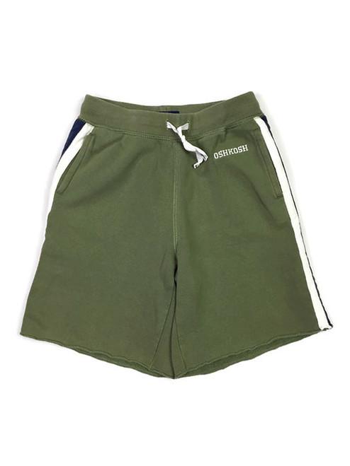 Green 3-Stripes Athletic Shorts, Little Boys