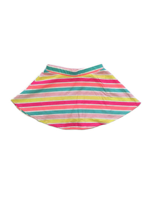 Pink Multi-Color Striped Skort, Toddler Girls