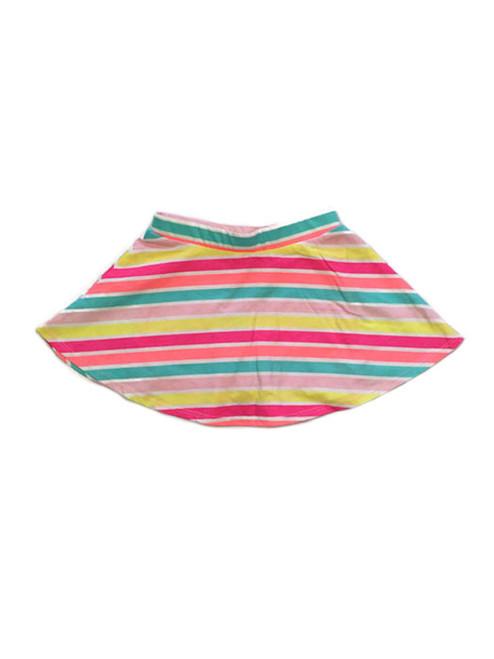 Pink Multi-Color Striped Skort, Toddler Girls