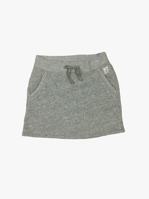 Gray Pocket Skirt, Little Girls