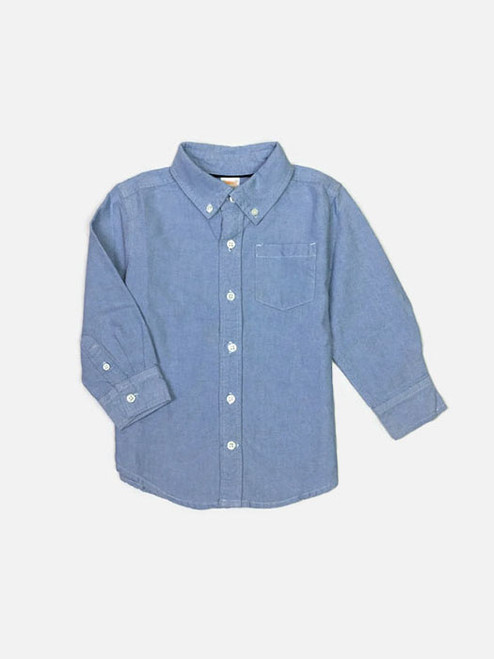 Blue Oxford Shirt, Toddler Boys