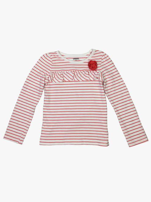 Coral Striped Shirt, Toddler Girls