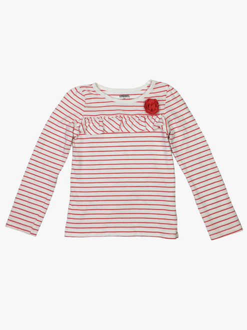 Coral Striped Shirt, Toddler Girls
